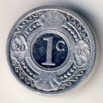 Antilles, 1 cent, 1989–2016