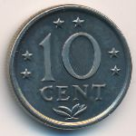 Antilles, 10 cents, 1970–1985