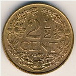 Antilles, 2 1/2 cents, 1956–1965